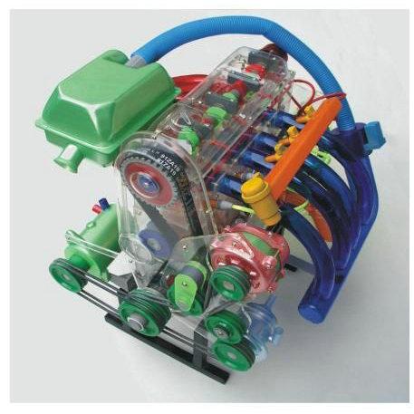产品名称: 桑塔纳发动机机体解剖模型  规格尺寸:80cm×50cm&