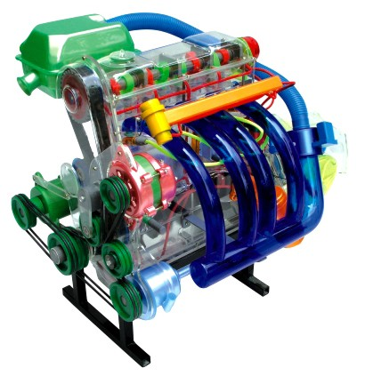 桑塔纳发动机模型