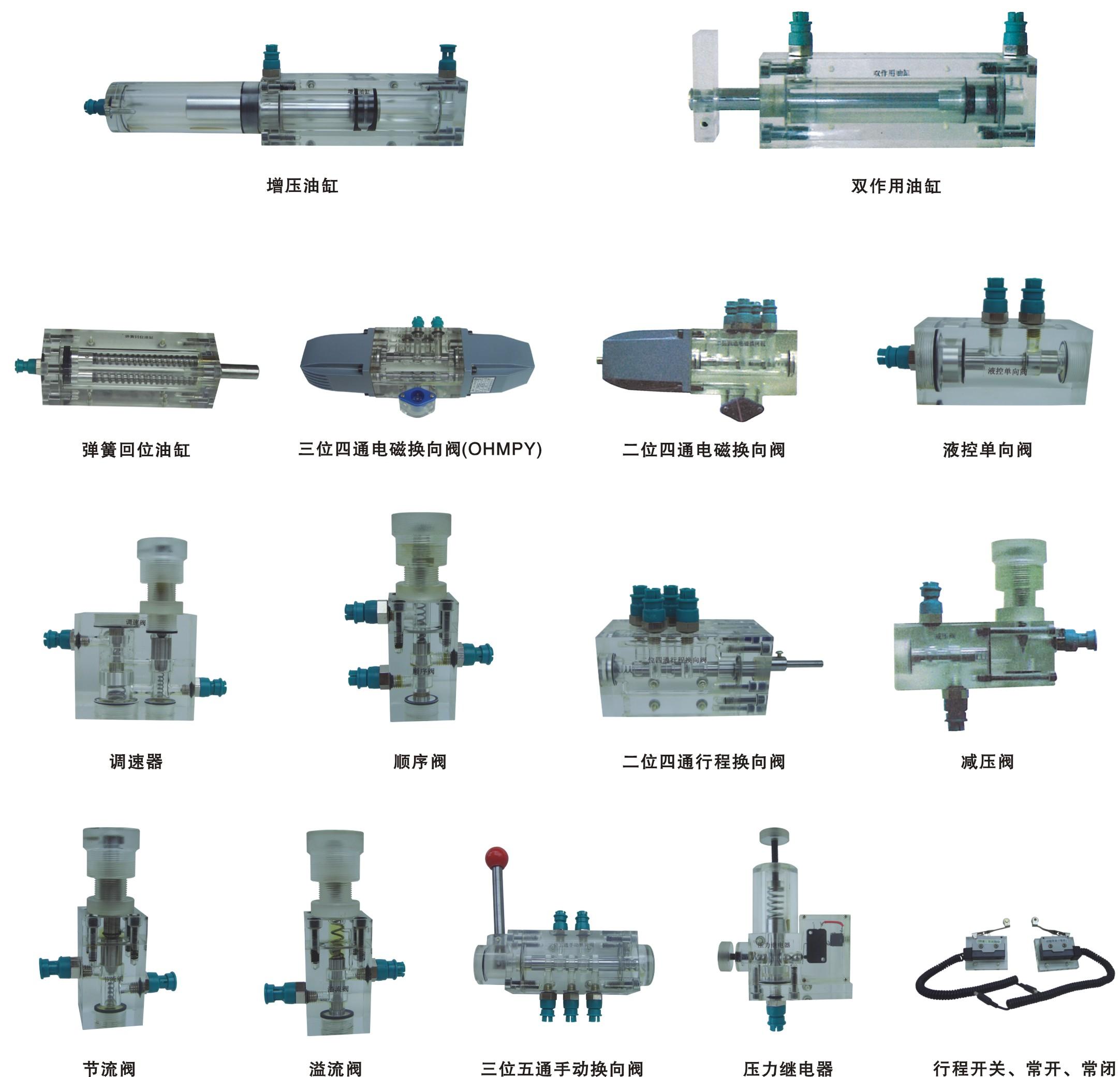 液压plc控制实训装置,透明液压传动实验装置