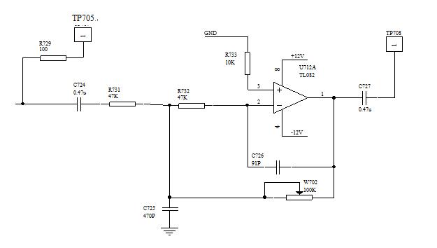 低通滤波器电原理图