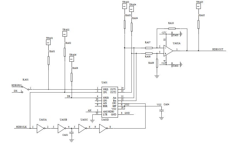 一、实验目的 1.熟悉AMI / HDB3码编译码的工作过程 2.观察AMI / HDB3码码型变换编译码电路的测量点波形 二、实验工作原理 在分析HDB3码码数字基带信号传输及HDB3码码型变换线路编译码工作原理之前,学生可以对本实验电路中使用的HDB3码专用集成电路CD22103芯片作一个了解,详见所附光盘CD22103: (一) HDB3码电路的工作原理 AMI码的全称是传号交替反转码。这是一种将消息代码0(空号)和1(传号)按如下规则进行编码的码:代码的0仍变换为传输码的0,而把代码中的1交替