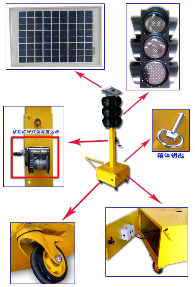 驾校交通信号灯组成