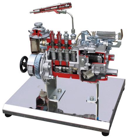 柱塞式高压油泵解剖模型