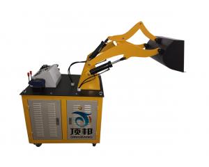 液压部件采用胶管连接, 液压元件采用工业液压元件;   7,泵站采用电图片
