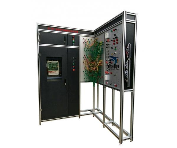 一、产品概述 电梯电气控制维保实训装置是根据当前真实电梯电气的安调和维保需求而开发的一种电梯电气实训考核的平台。适用于各职业院校、技工类学校的电梯安装与维保、楼宇自动化、机电自动化等电梯相关专业以及职业资格鉴定中心和培训考核机构。 电梯电气控制维保实训装置采用真实的电梯总电源箱和微机控制柜成套机房设备,曳引机组及三层井道电气器件均采用模拟的形式,学生借助电梯电气图对这两个部分进行安全型插线连接,通过模拟运行检验连接的正确性与排除出现的故障,使学生能够在本装置上初步掌握电梯电气原理与规范标准、连接、调试、